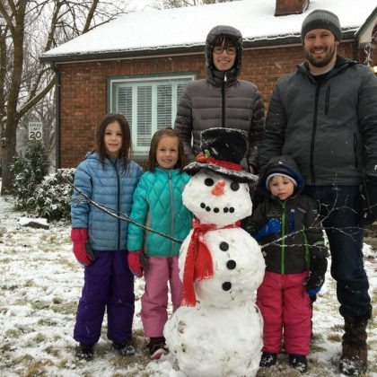 2015 East End Family With Their Perfect Snowman
